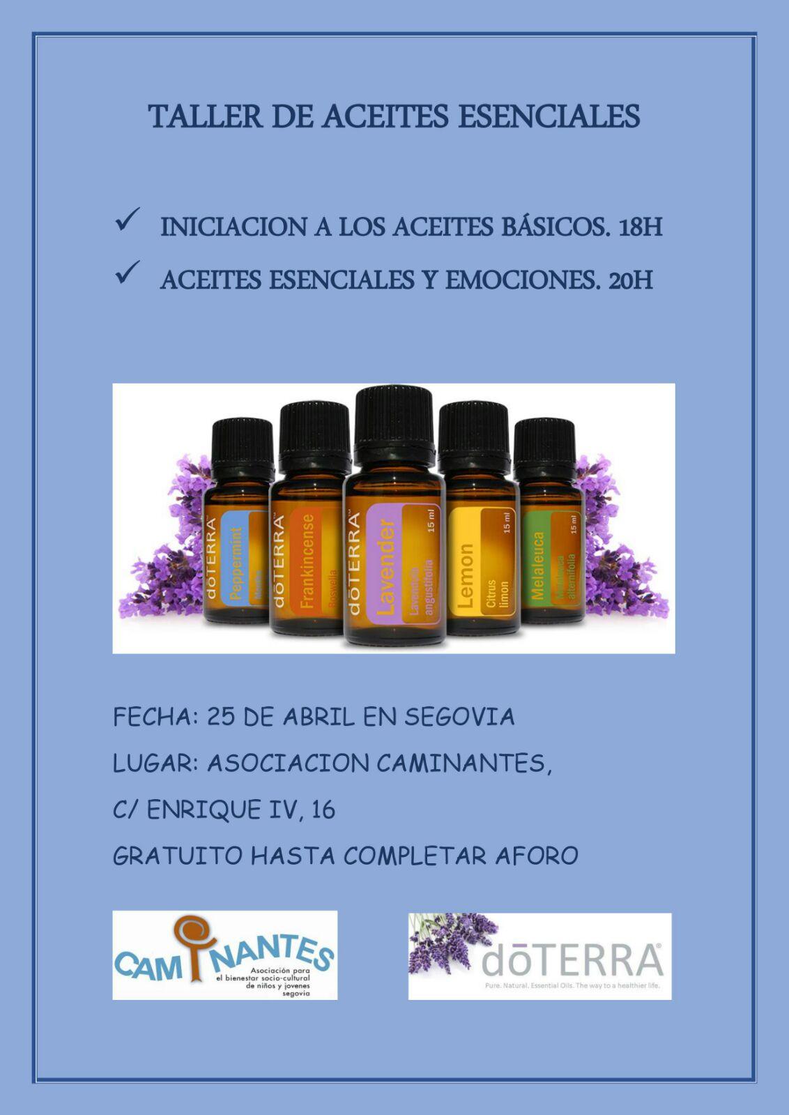 Aceites esenciales en Segovia